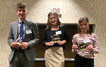 The three students who won the Principles of Business event