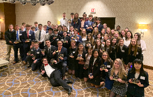 The BPHS students who competed at DECA Districts