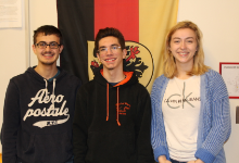The three Gold Award winning students