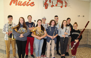 The 10 BPHS Honors Band Musicians