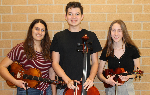 The three Honors Orchestra musicians