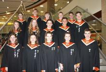 The 15 Region Chorus students