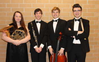 The four BPHS Region Orchestra musicians