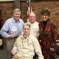 The four outgoing BPSD School Board Members