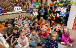 Dr. Pasquerilla, Ms P and Franklin Kindergarten students