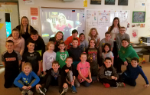 Mrs. Meucci's class in front of the Skype