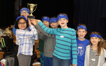 Memorial students with the Gifted Challenge Cup