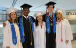 Five graduates