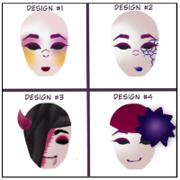 Four masks