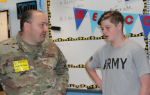 Soldier speaking with IMS student
