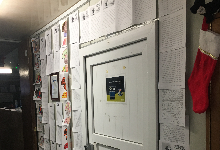 Students letters on display in the Hall of Heroes