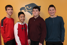 The four students in the Math Contest