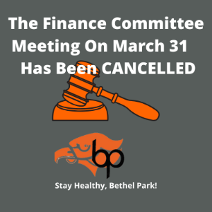 March 31 Board Meeting Cancellation