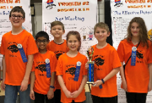 The champion Odyssey of the Mind team