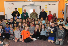 Fourth graders and the veterans