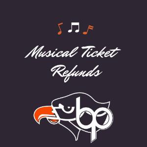 Musical Ticket Refund Logo