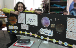 Student with her CBL project
