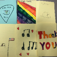 Some of the thank you cards