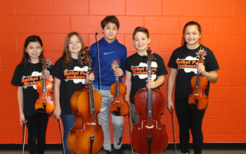 The five Elementary String Fest musicians