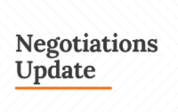 Negotiations Update