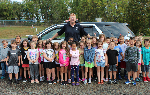 Officer Ken and the Penn first graders