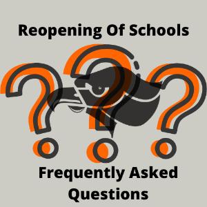 Reopening of Schools FAQ Logo