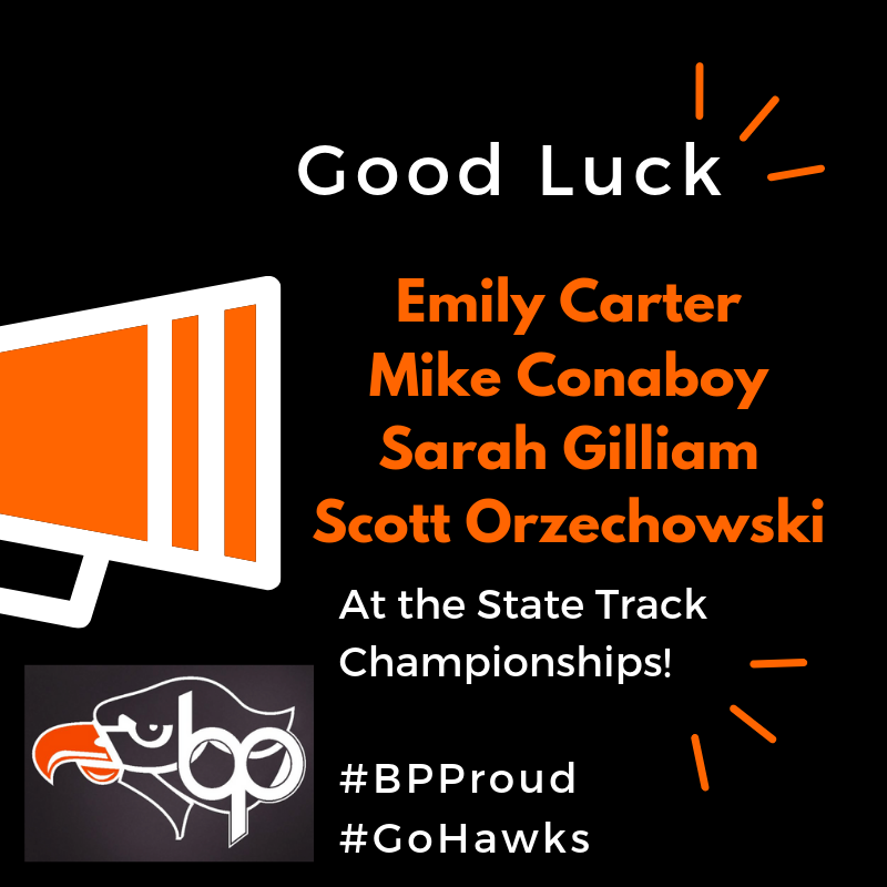 Good Luck State Track Athletes