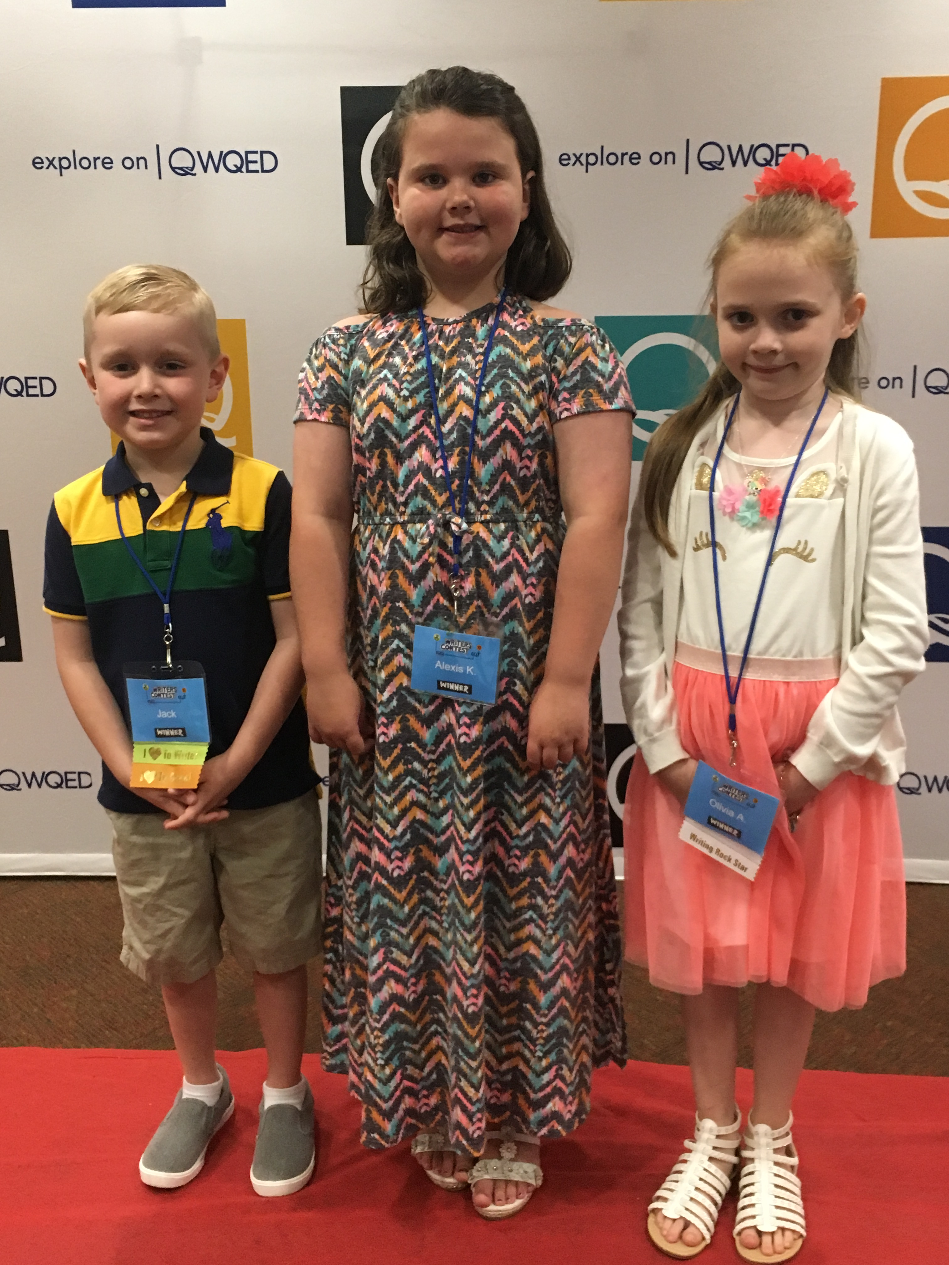 The three WQED Writers Contest Winners