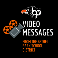 Video Messages from the Bethel Park School District logo