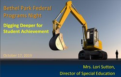 October 17, 2019 Federal Programs Night Presentation