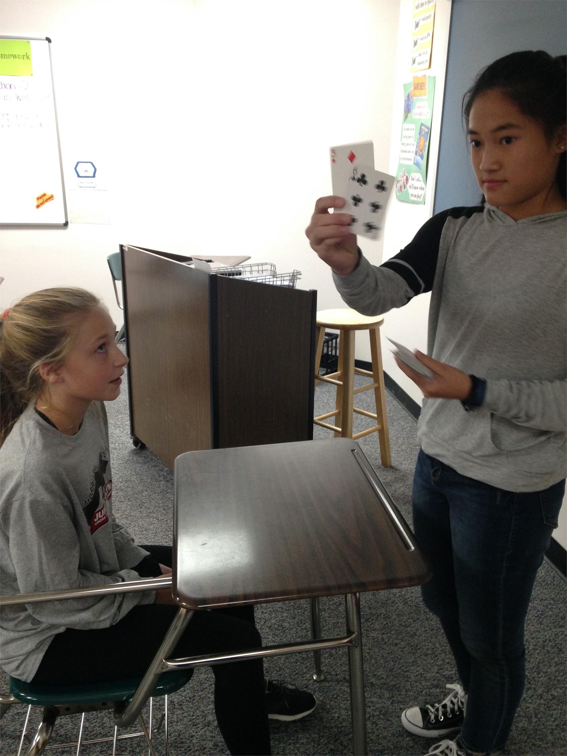 Neuroscience card tricks