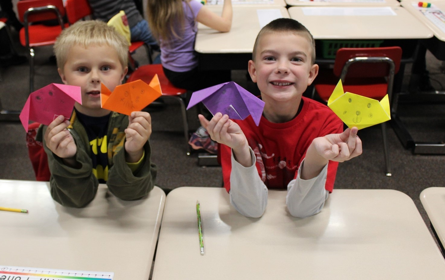 Penn First Graders Learn Origami From The Japan-America Society