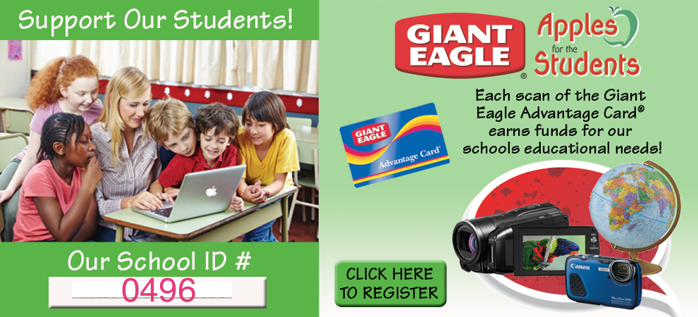 Register your Giant Eagle card for Apples for Students