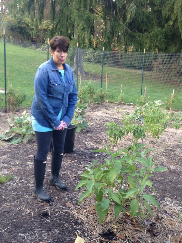 Mrs. Douds is sad to see the garden end for the 2017 growing season