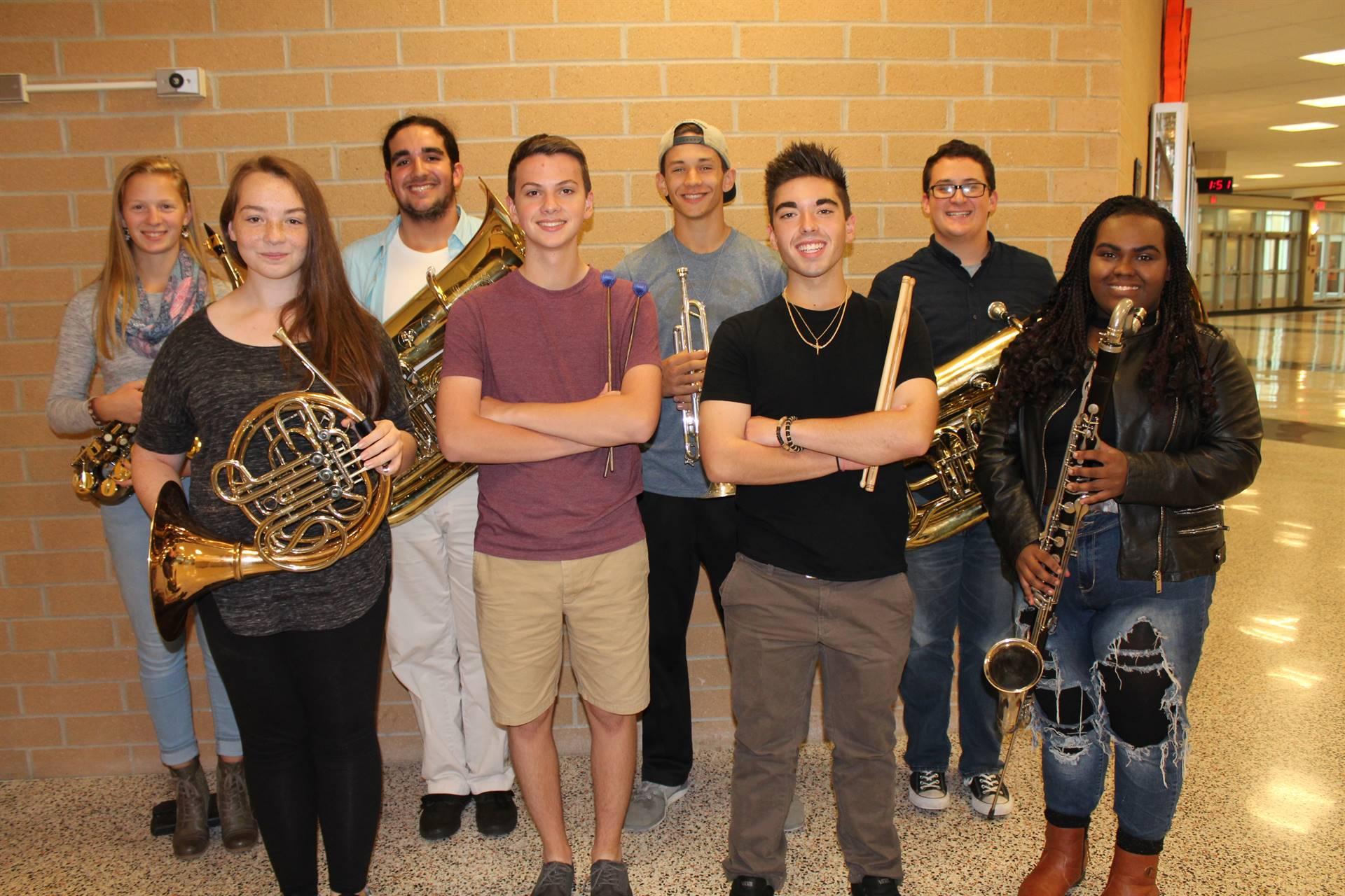 BPHS Honors Band Musicians
