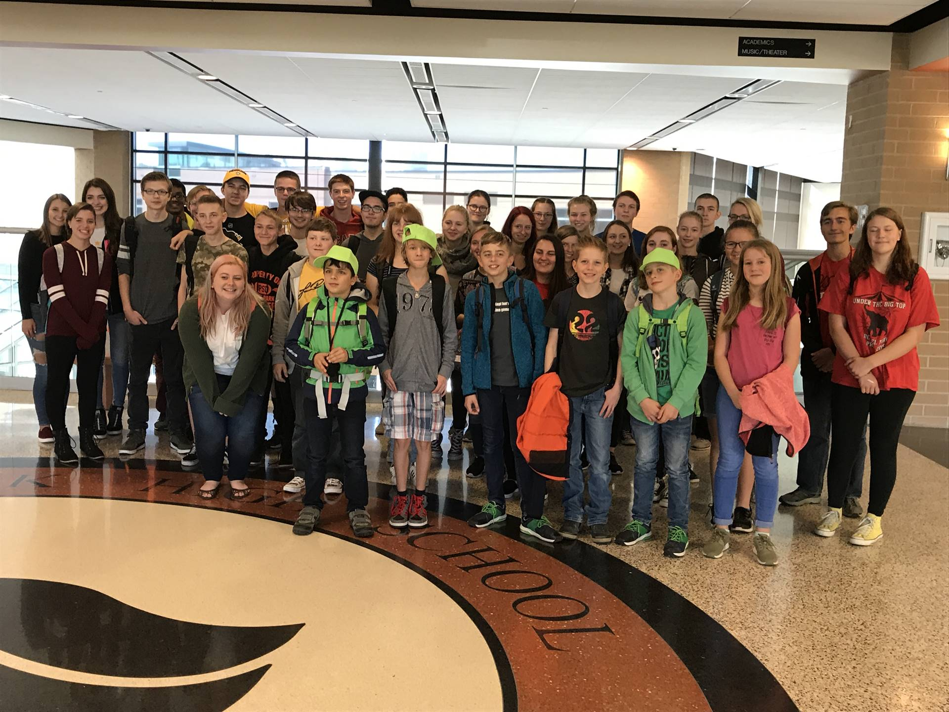 BPHS German students and the visiting German Choir students
