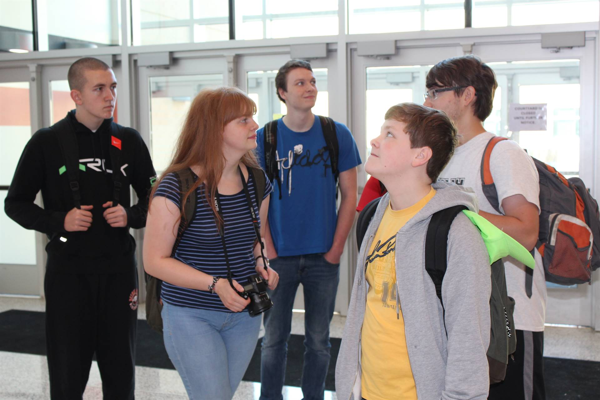 The German students were impressed with the size of BPHS
