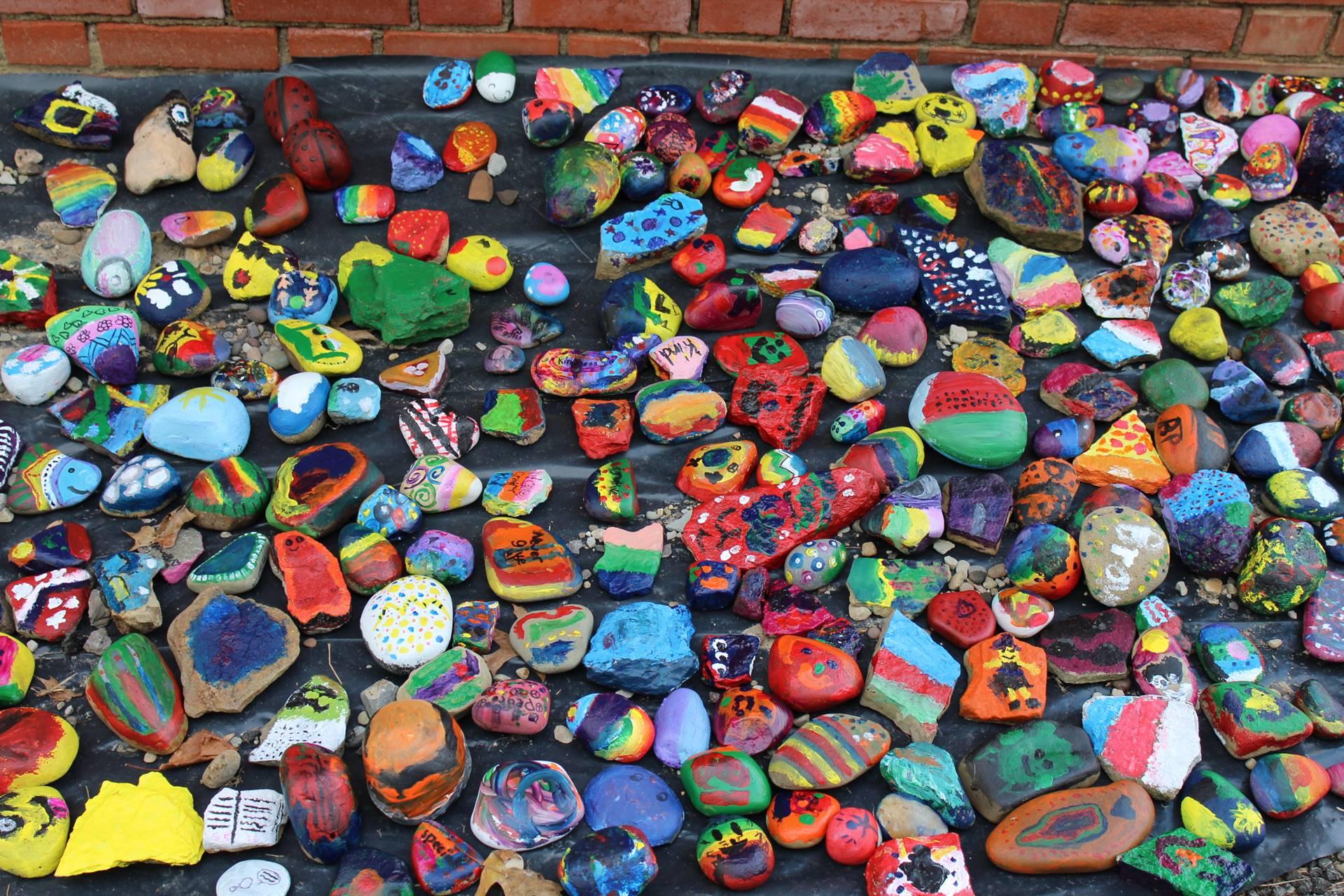 The rocks in the rock garden