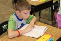 Students like to read chapter books in their spare time