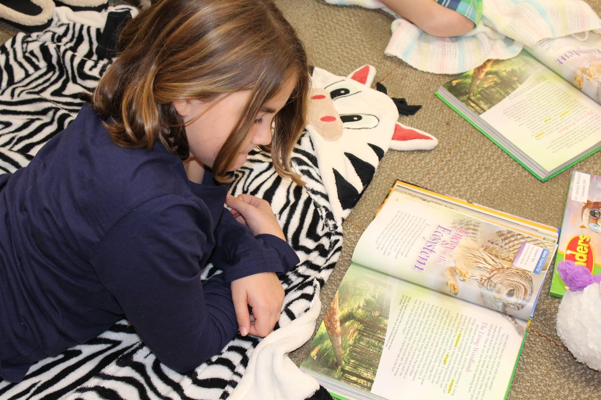 Mrs. Dressler's students enjoy reading