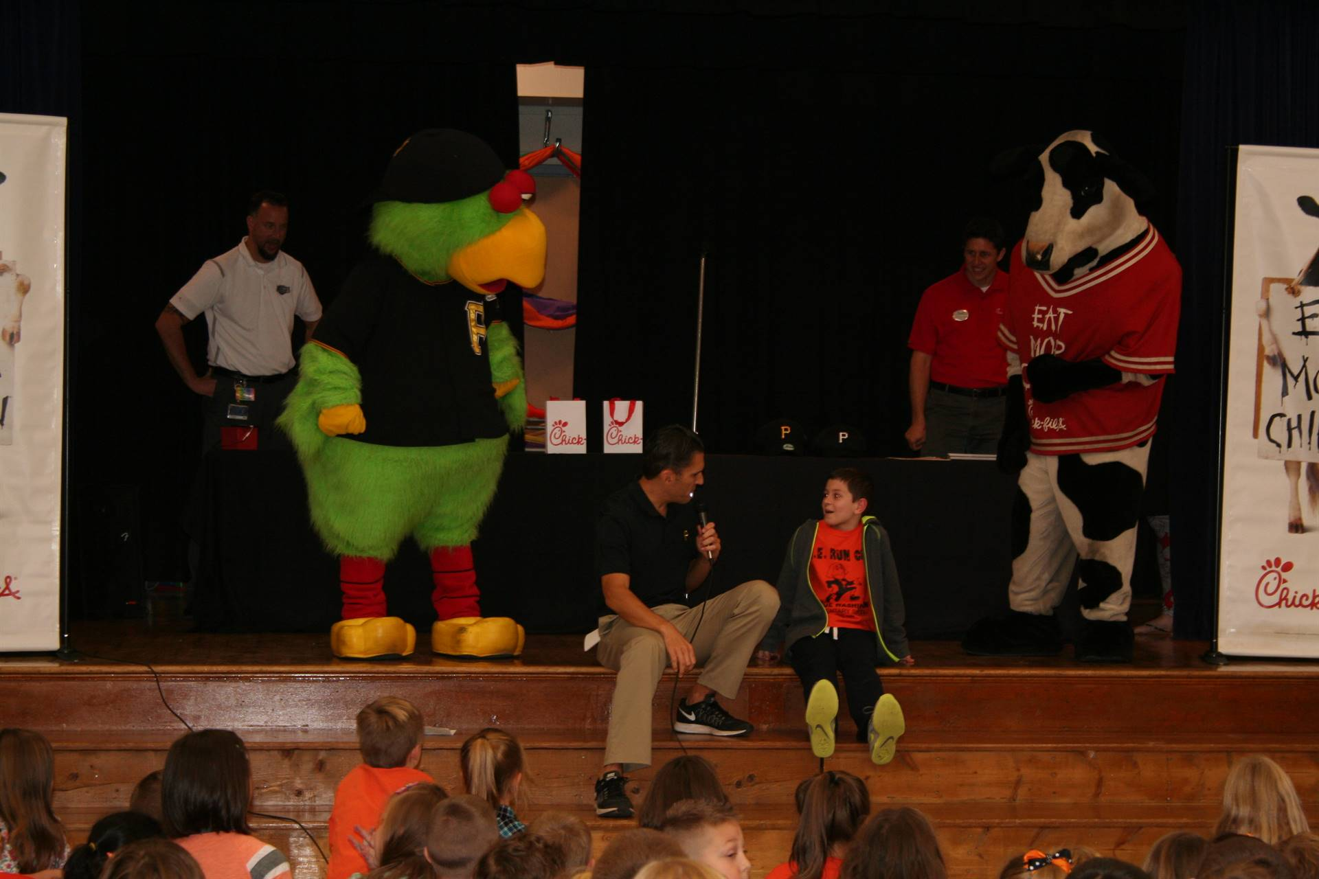 The Pirate Parrot/Chick-Fil-A Cow Assembly