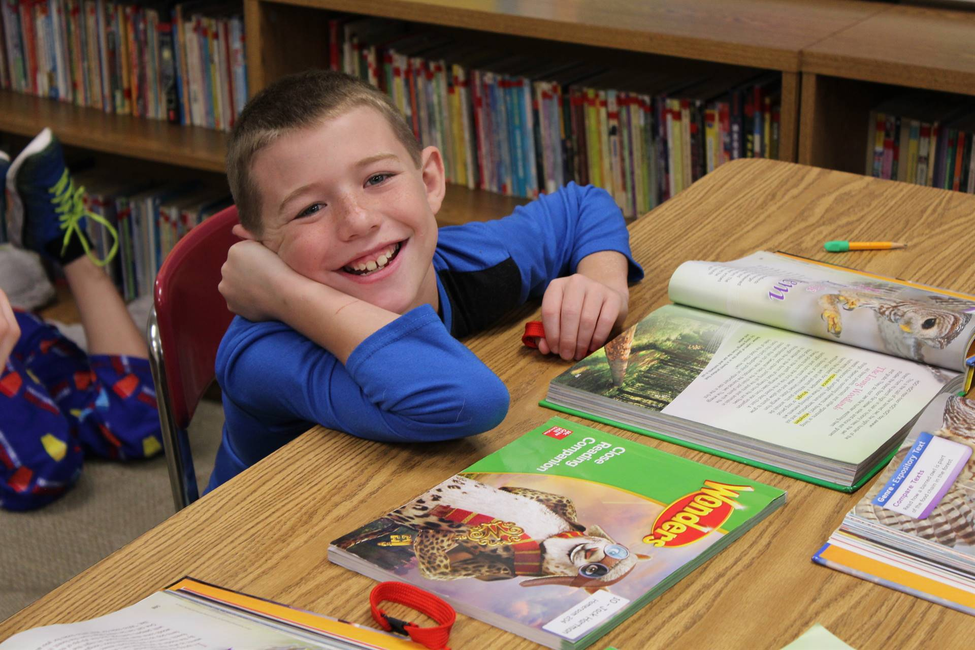 Fourth Graders work hard to improve their reading skills