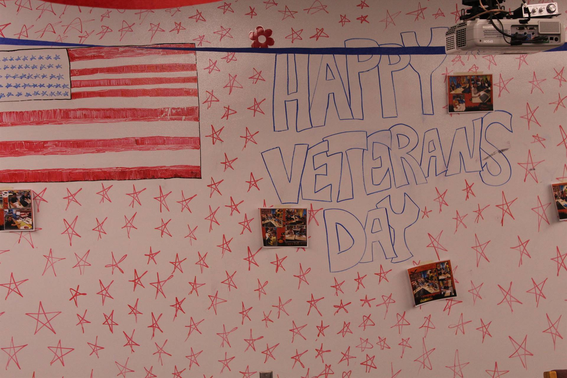 Happy Veterans Day sign