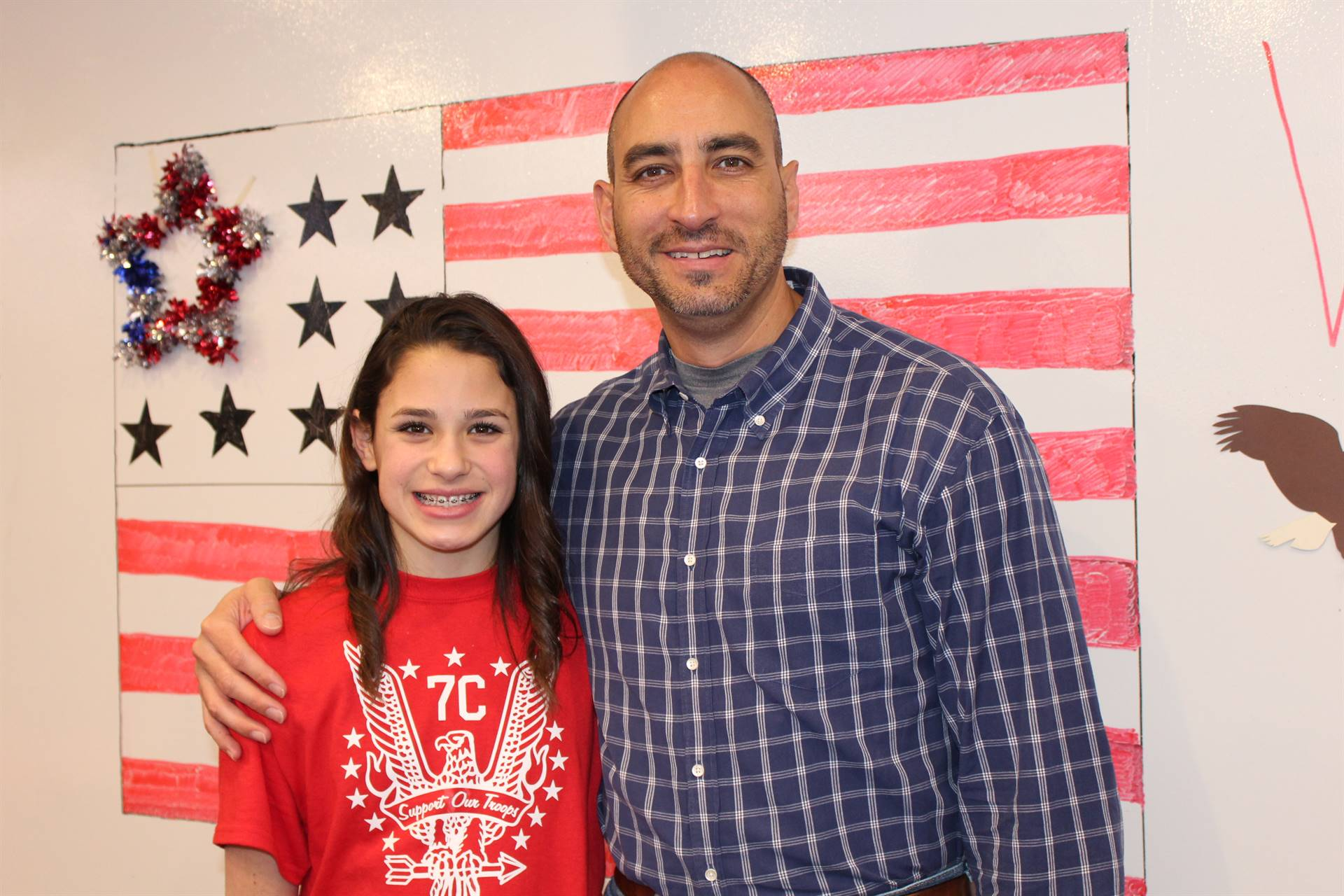 An IMS student and her Veteran father