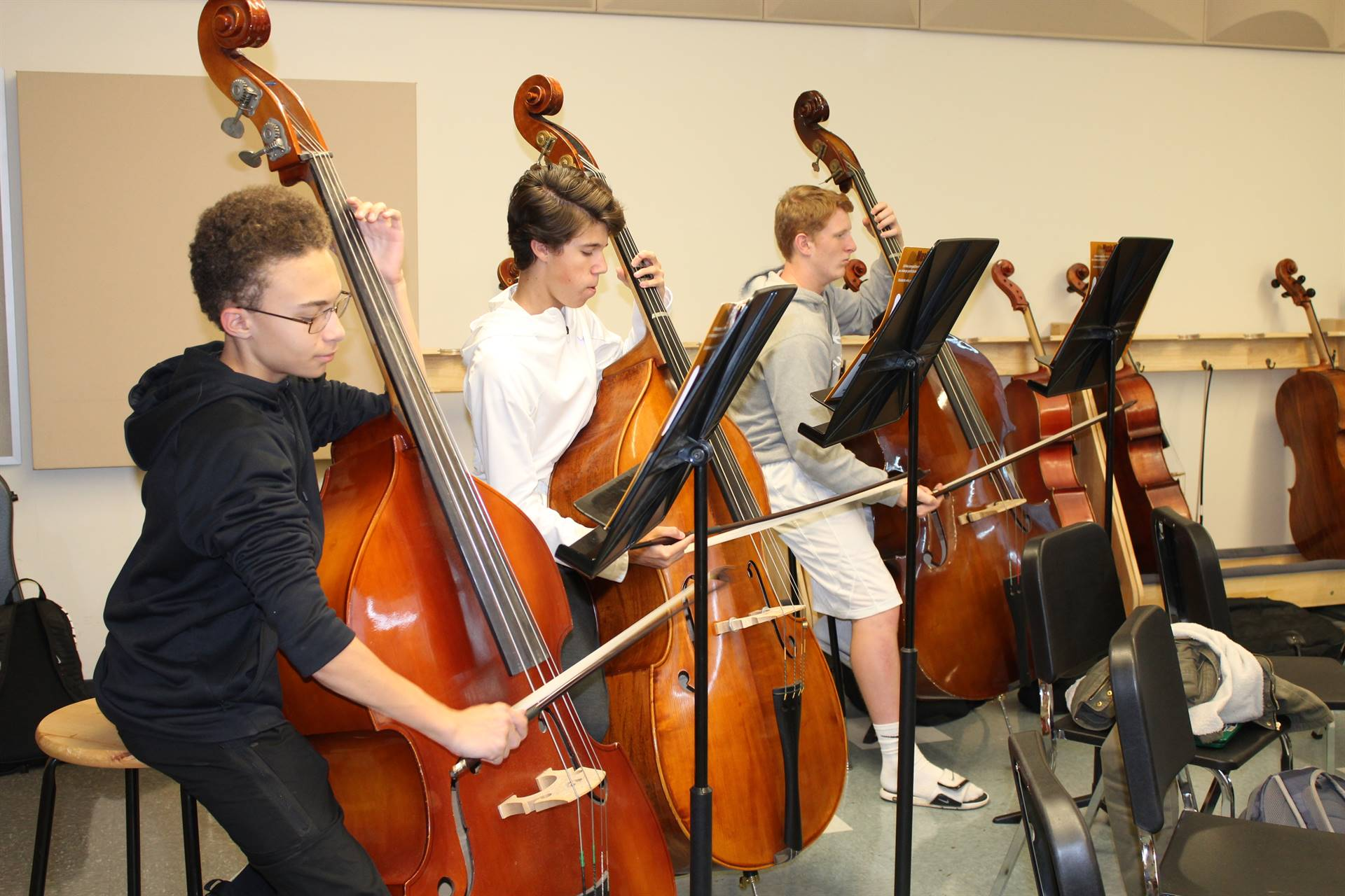 The BPHS String Orchestra rehearses for their November 16 Concert
