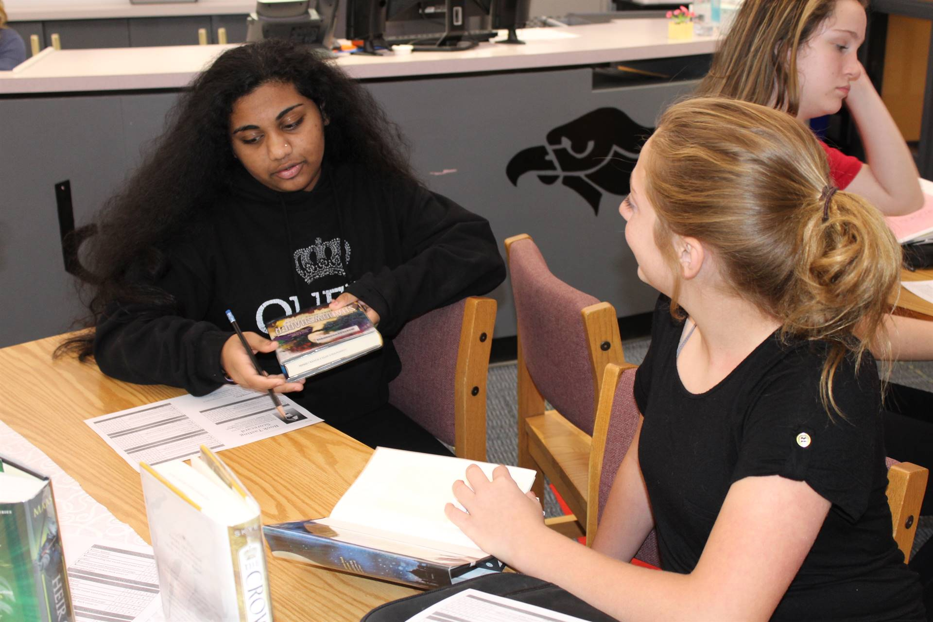 Students rate books at the Book Tasting