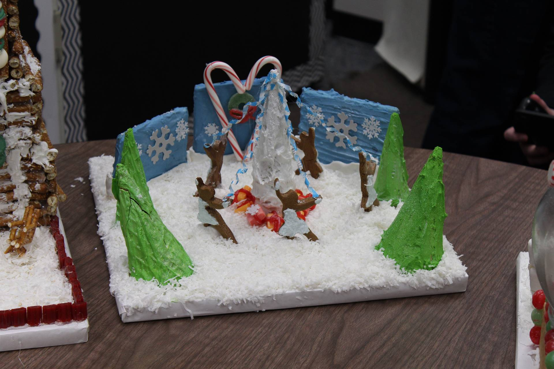 A gingerbread outdoor scene