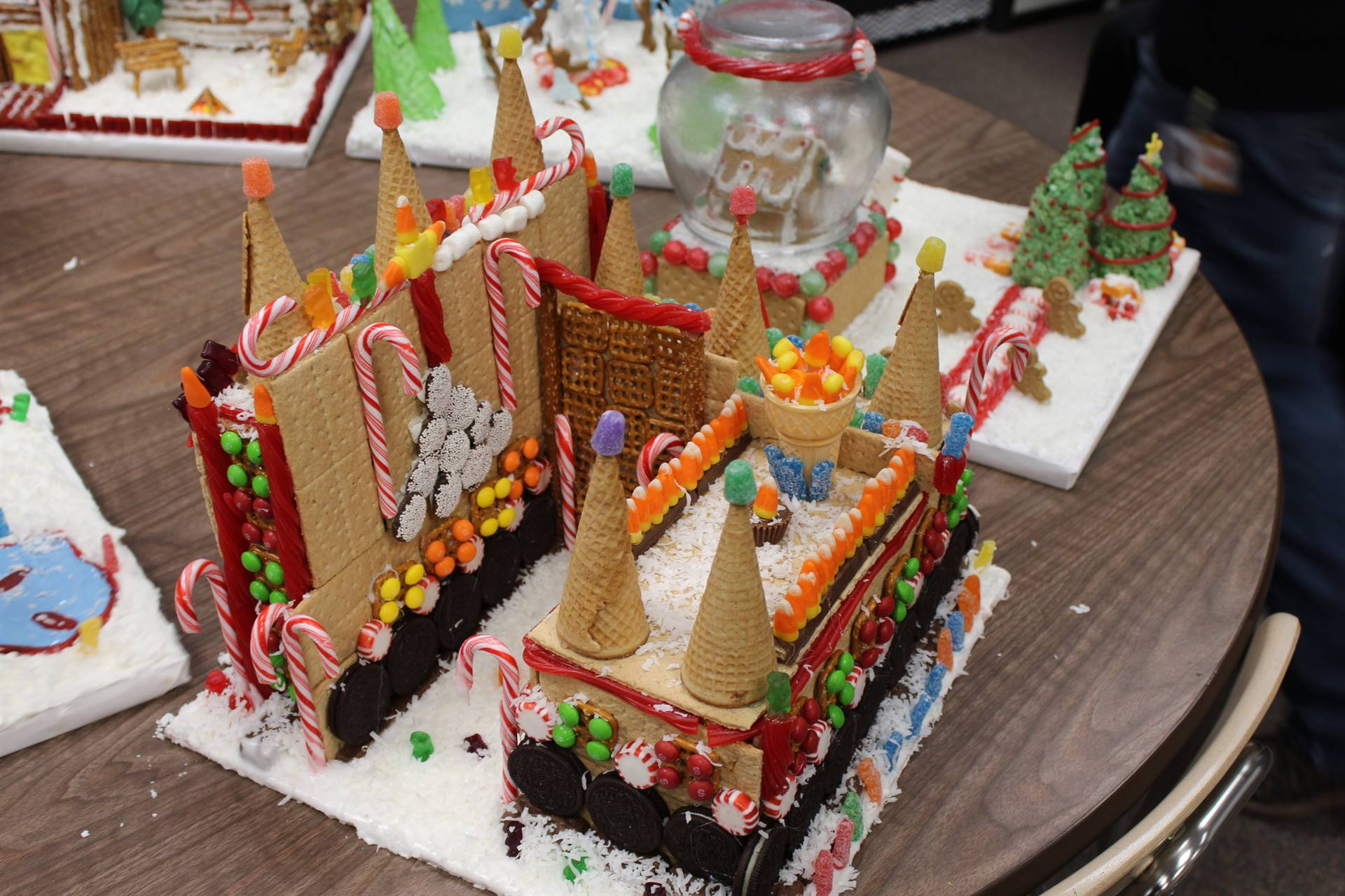 A gingerbread castle