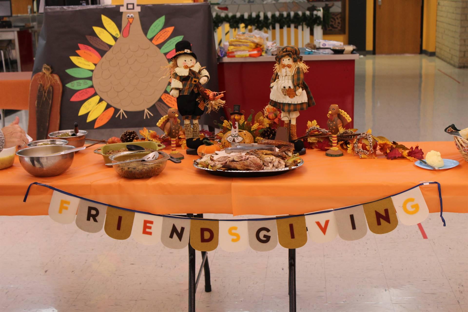 Friendsgiving food table