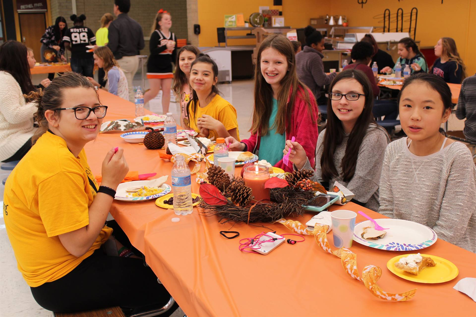 Students enjoy the feast